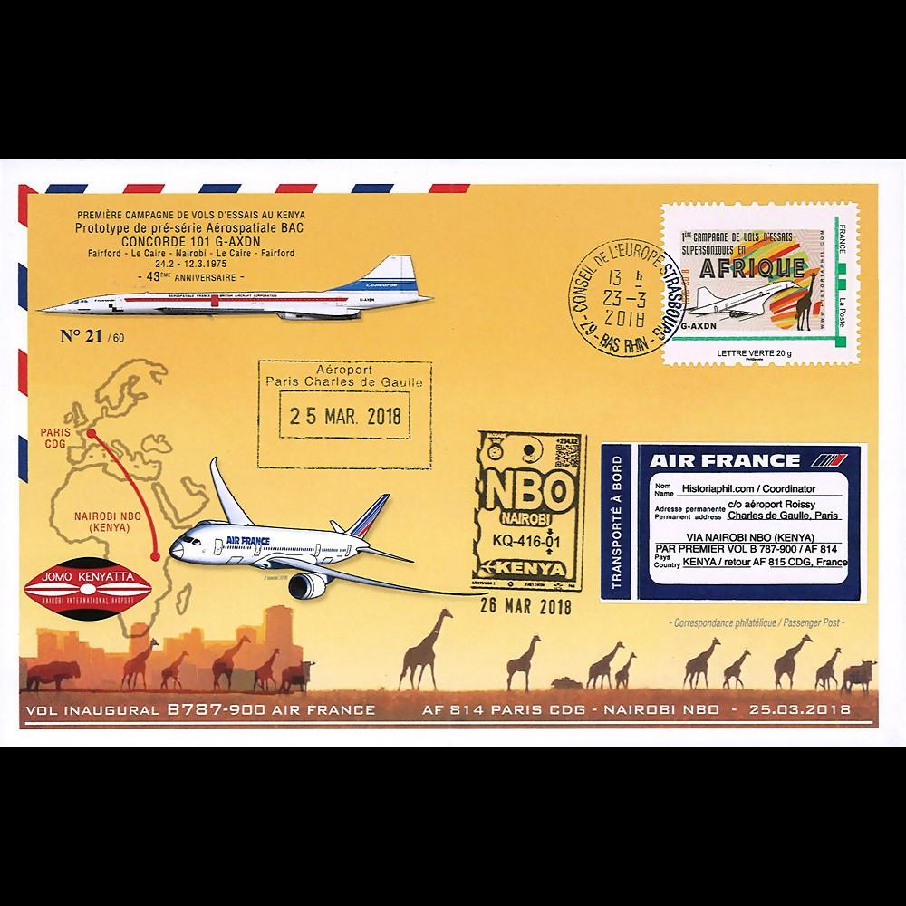 """CO-RET84 FFC """"1ère campagne de vols supersoniques Concorde en Afrique 1975-2018"""""""