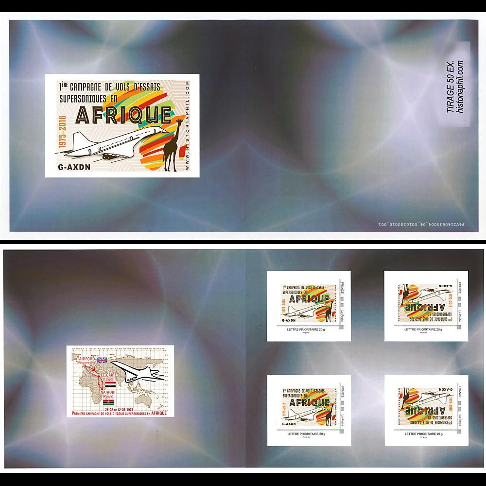 """CO-RET84C FRANCE Carnet Collector """"1975-2018 1ère campagne Concorde en Afrique"""""""