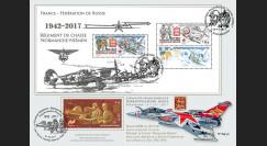 """NIEM17-7 : 2017 Maxi-FDC France-Russie """"75 ans Régiment NORMANDIE-NIEMEN / de Gaulle"""""""