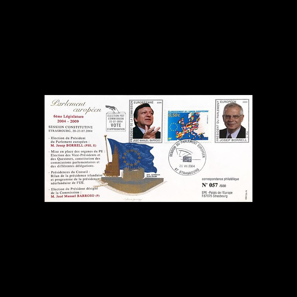 "PE489 : 2004 - FDC PE ""Election MM. BORREL & BARROSO"