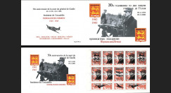 """DG0015C : 2000 Carnet privé ex-URSS """"Normandie-Niemen / 30 ans mort de Gaulle"""" - 3k"""