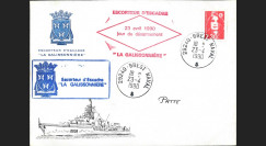 "NAV90-GAL : 1990 FDC France ""Désarmement de l'escorteur d'escadre La Galissonnière"""