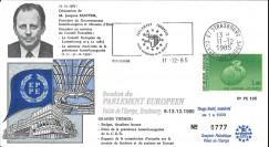 PE105 : 1985 - FDC Parlement européen Prés. luxembourgoise CEE