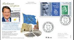 "PE733 FDC Parlement européen ""Prix Sakharov Oleg SENTSOV / Nicos ANASTASIADES"