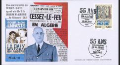 ALG8 : 1958 FRANCE - FDC...