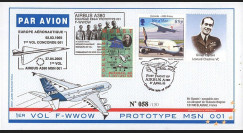 "A380-11B : 2005 - Pli Ile de Man ""1er vol du prototype MSN 001 de l'A380"""