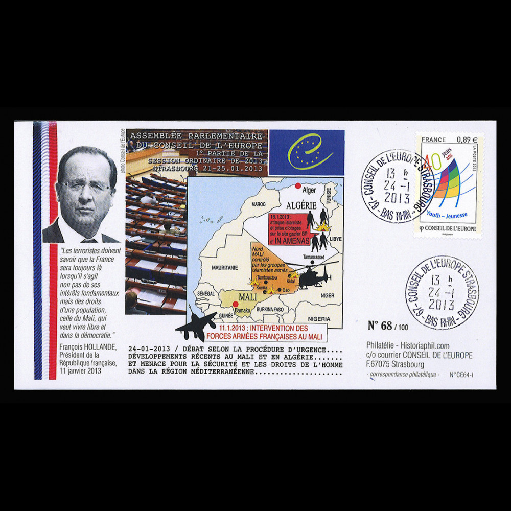 MALI13-11 : 2013 Council of Europe - French intervention in Mali - Hollande
