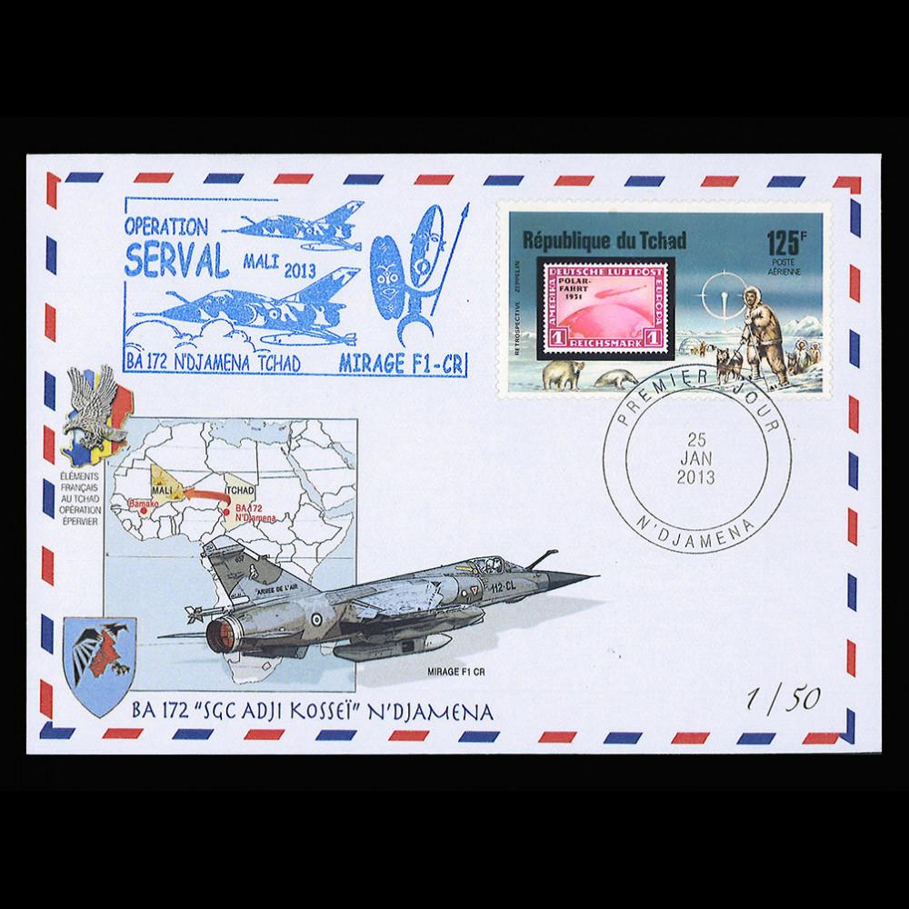 MALI13-6T1 : 2013 Operation SERVAL Mali - No 172 AB N'Djamena Chad - MIRAGE F1CR