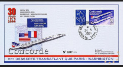 CO-RET30V : 2006 - 30 ans 1ère desserte Concorde Paris-Washington GB