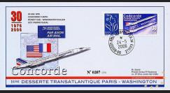 CO-RET30V : 2006 - 30 ans 1ère desserte Concorde Paris-Washington GB