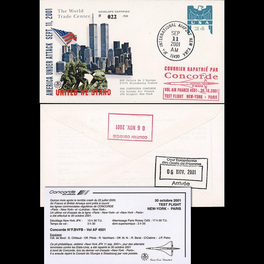 "PE439BT2 : 2001 - EP USA ""Attentats du 11 septembre - The World Trade Center"" TYPE 2"