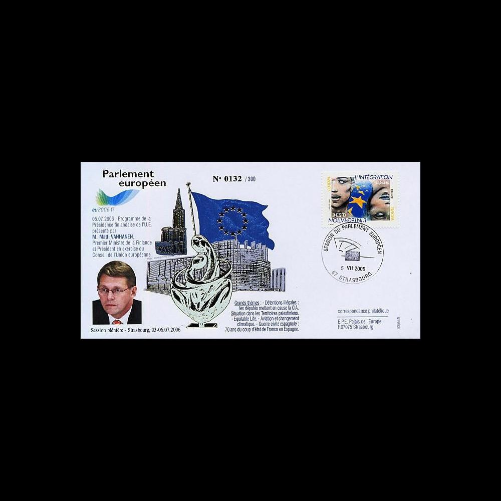PE521 : 2006 - Visite officielle du 1er Ministre de Finlande M. Vanhanen