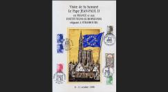 PE170 type1 : 1988 Diptyque Pape Jean-Paul II en France et aux Institutions européennes