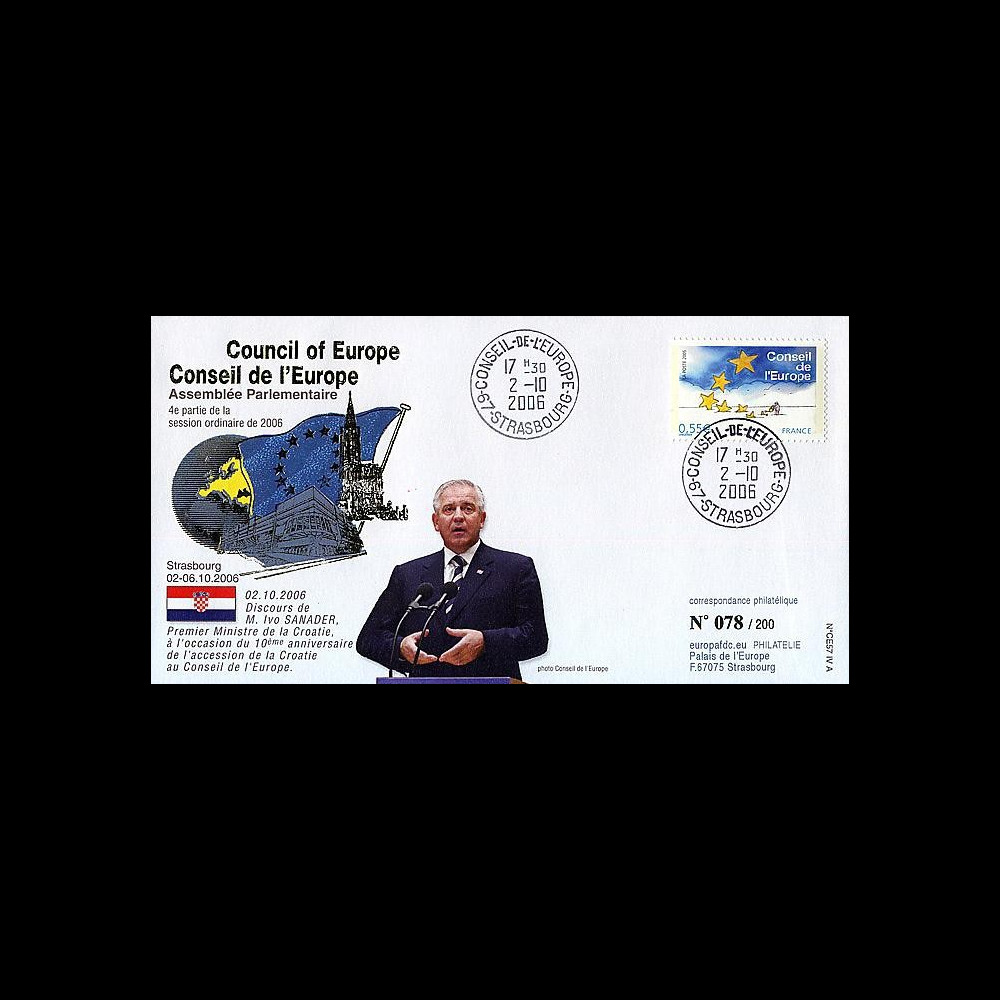 CE57-IVA : 2006 - 10e anniversaire accession de la Croatie au CE
