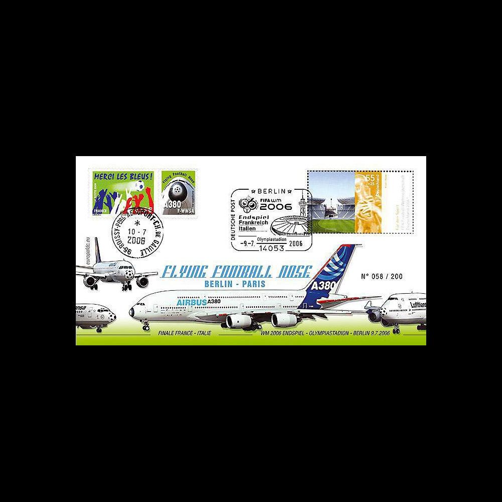 A380-21 : 2006 - Vol Berlin - Paris Flying Football Nose