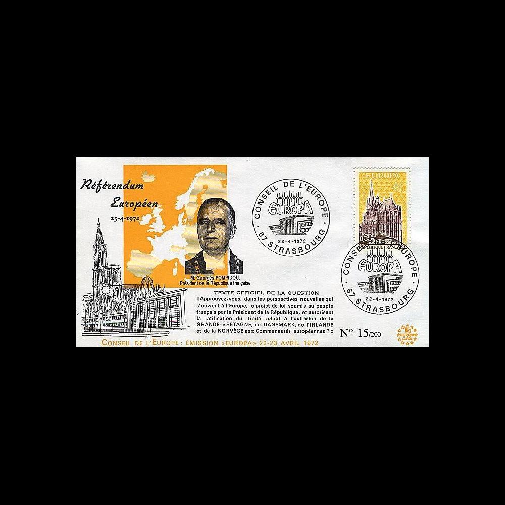 RD65A T1 : 1972 - Référendum européen - Président Pompidou