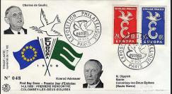 EU7-COL1 : 1958 - Rencontre de Gaulle-Adenauer à Colombey