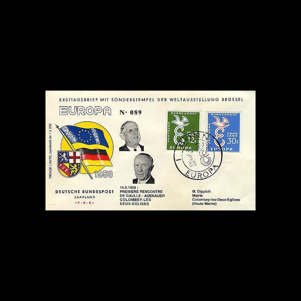 EU7-COL2B : 1958 - Rencontre de Gaulle-Adenauer à Colombey