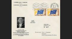 "CE14-IIIa-T1 : 1963 - FDC Conseil Europe ""DE GAULLE - Coopération Franco-allemande"""
