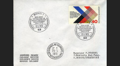 FE24cL : 1973 - 10 ans Traité de l'Elysée - de Gaulle et Adenauer