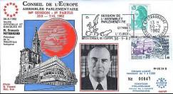 CE34 II : 1982 - 1ère visite officielle de Mitterrand au Conseil de l'Europe