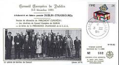 PE82 : 1984 : Conseil européen de Dublin - Pdt Mitterrand