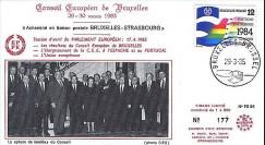 PE88 : 1985 : Conseil européen de Bruxelles - Pdt Mitterrand