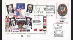"""PE203 : 11-1989 - FDC Parlement européen """"MITTERRAND & KOHL - Chute du Mur de Berlin"""""""