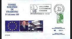 PE204A : Conseil européen de Strasbourg - Présidence franç. CEE