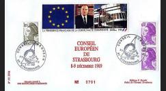 PE204 : Conseil européen de Strasbourg - Présidence franç. CEE