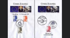 PE204BF : Conseil européen de Strasbourg - Présidence franç. CEE