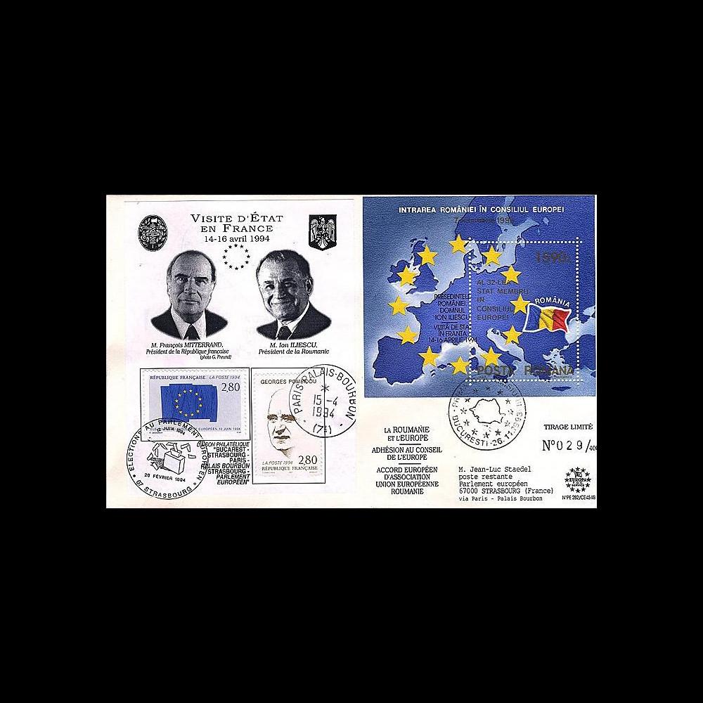 PE282 : 1994 - Adhésion de la Roumanie au Conseil de l'Europe