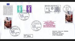 PE332-3a : 1997 - 1er Jour TP hommage à Mitterrand - Jarnac