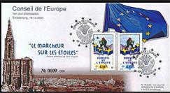 CE54-PJ : 18.10.2003 1er Jour des timbres de service du Conseil de l'Europe