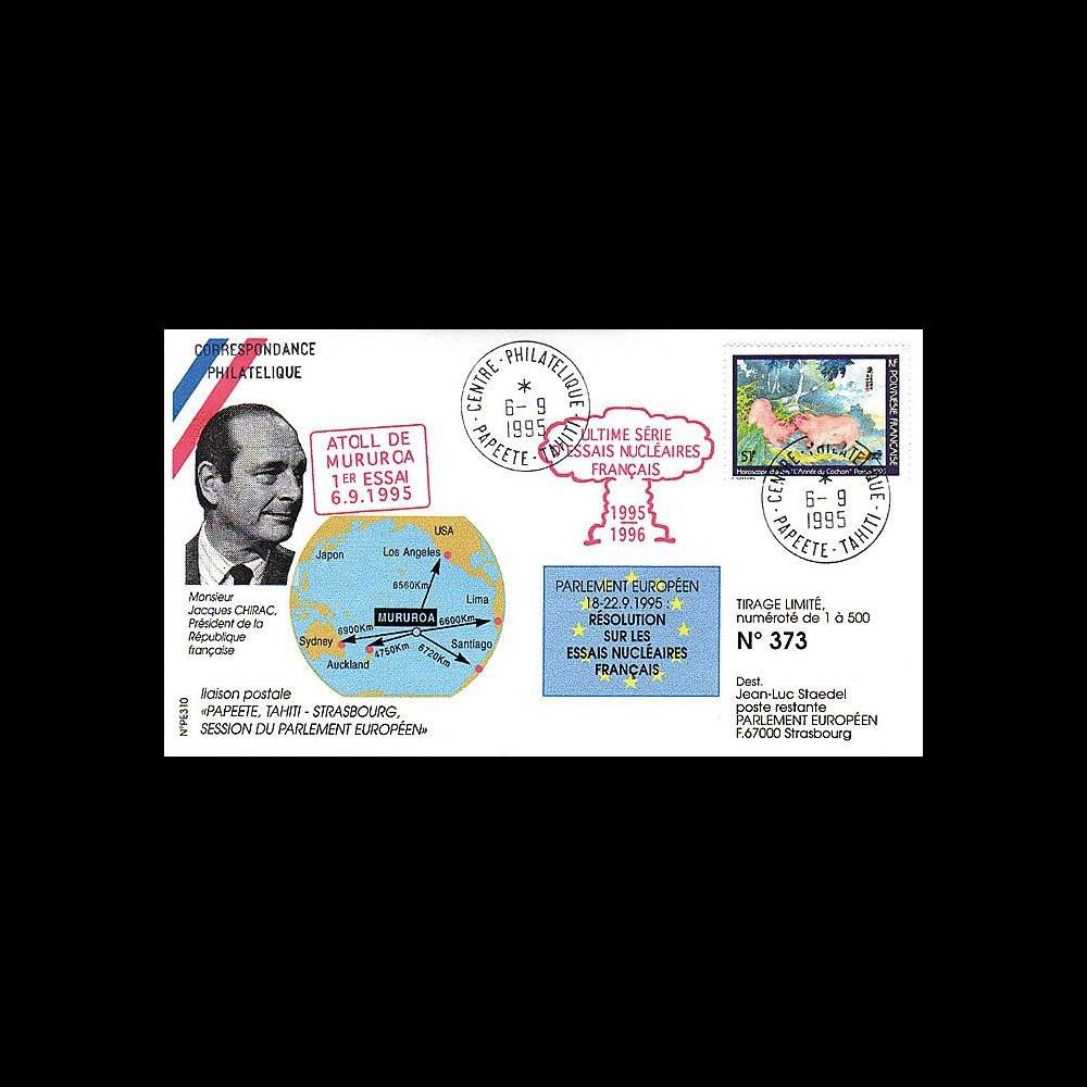 PE310 : 1995 - 1er tir de la campagne d'essais nucléaires français