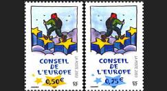 CE54-NF : 18.10.2003 Timbres de service du Conseil de l'Europe