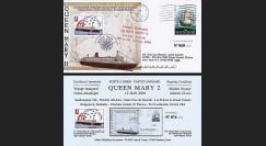 QM2-4 : 2004 - Courrier naval posté à bord du Queen Mary 2