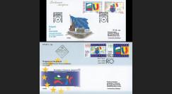 """PE532/533 : 29.11.2006 - 2 FDC émission commune """"Adhésion Bulgarie et Roumanie à l'UE"""""""