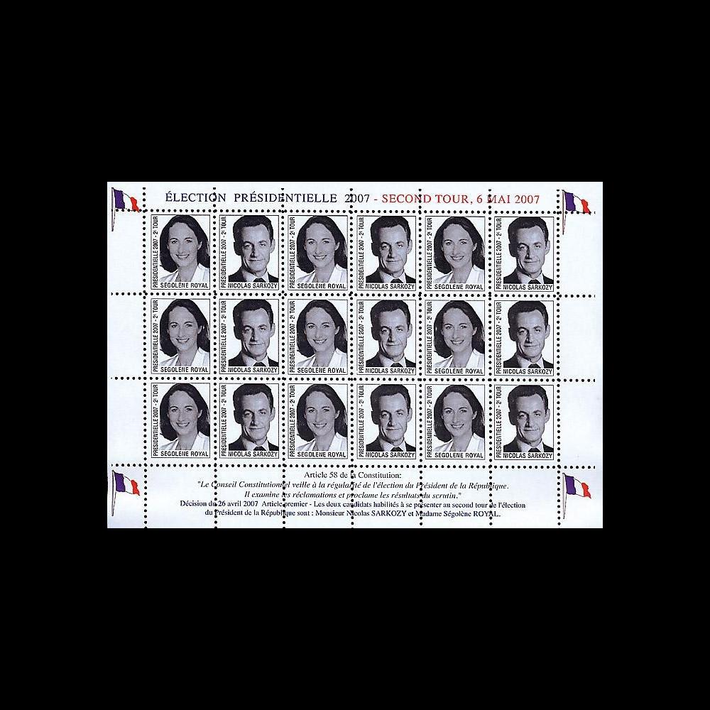 EP07-2VD : 2007 - Présidentielles 2007 - 2e Tour Royal - Sarkozy