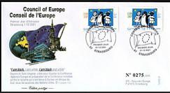 CE52-PJ : 01.12.2001 1er Jour des timbres de service du Conseil de l'Europe