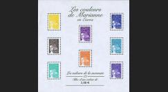 PE445-2NF1 : 2002 - Bloc-feuillet 'Couleurs Marianne en Euros 1/2' - France