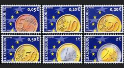 PE445-3NF : 2002 - TP Luxembourg pour l'introduction de l'Euro