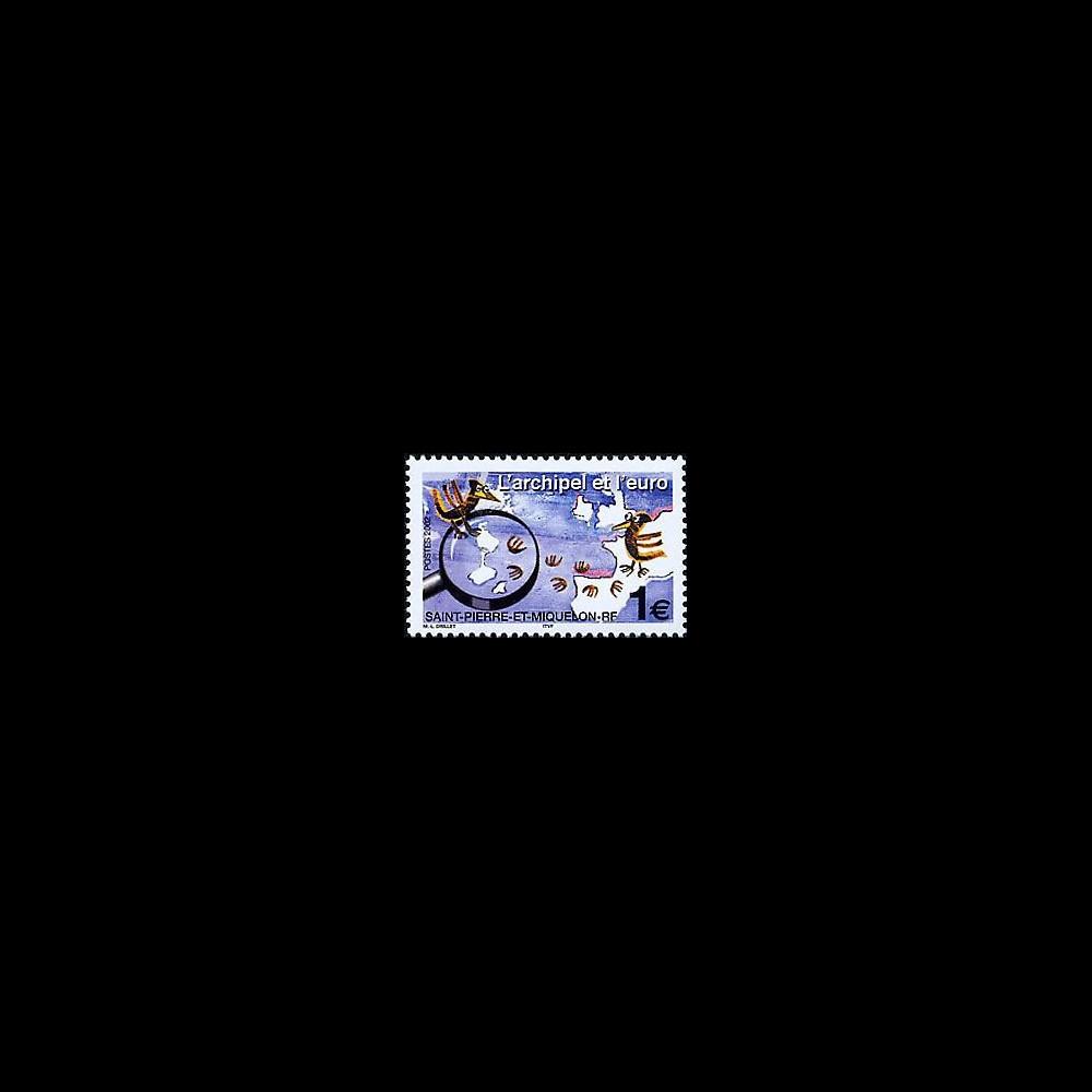 PE445-15NF : 2002 - TP St-Pierre-et-Miquelon pour l'introduction de l'Euro