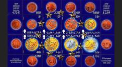 PE445-22NF : 2002 - TP Gibraltar (Royaume-Uni) pour l'introduction de l'Euro