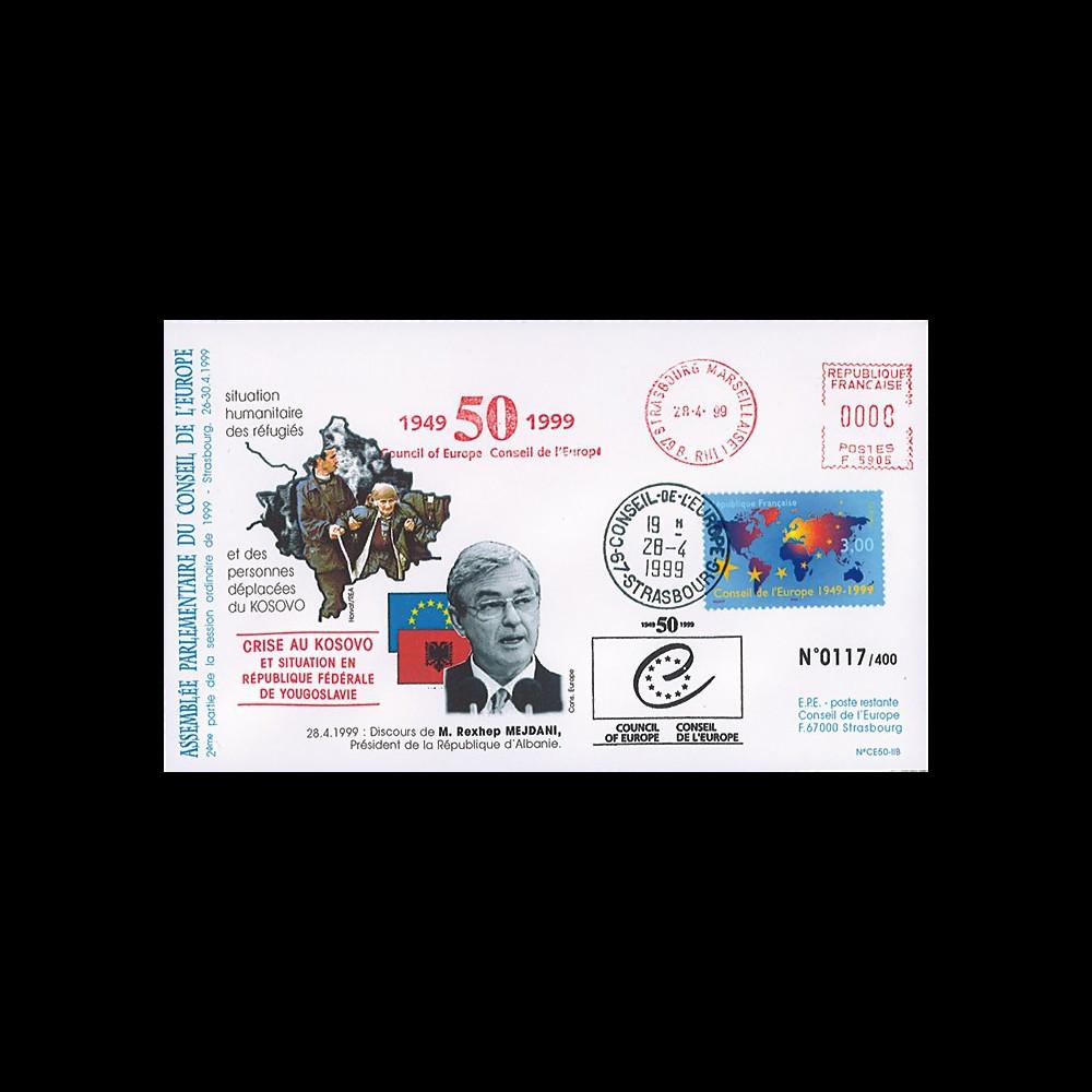 CE50-IIB : 28.4.1999 - Visite du Président albanais - crise au Kosovo