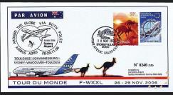 A380-37 T1 : 2006 - A380 Tour du Monde par les deux pôles - Australie