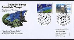 CE58-PJ : 2007 - 1er Jour des TP de service du Conseil de l'Europe