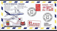 A380-29 104 type1 : 2006 - Certification Singapour-Toulouse