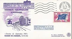 "AP21 : 1961 - FDC Conseil de l'Europe ""Construction Mur de la Honte - MUR DE BERLIN"""