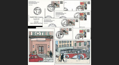 Suisse 2007 - 6 entiers postaux Tintin Centenaire Hergé 1907-2007